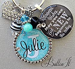 Personalized Double Pendant Retirement Gift Idea for Women
